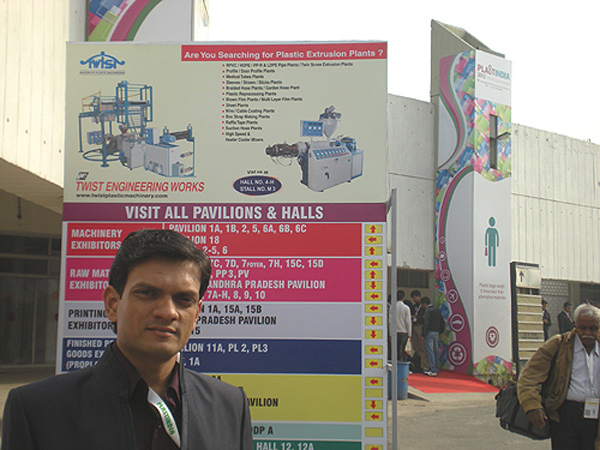 Our presence on Exhibition Ground, Plast India 2012
